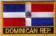 Dominican Republic Embroidered Flag Patch, style 09.